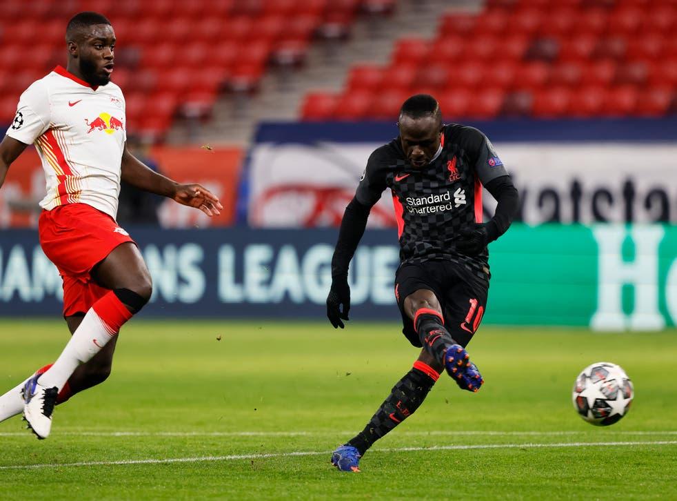 Sadio Mane fires home Liverpool's second goal