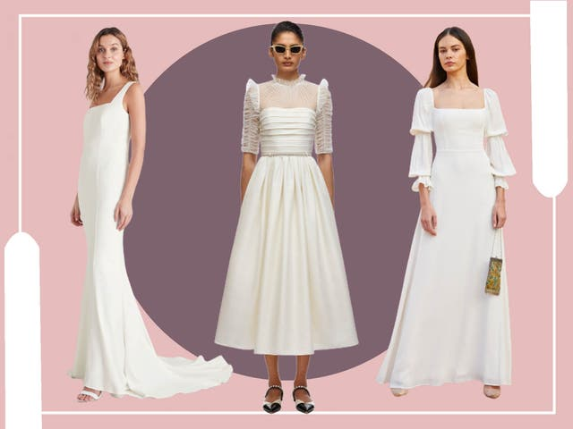 <p>From traditional gowns to fun new styles, thrifty brides now have plenty of options</p>
