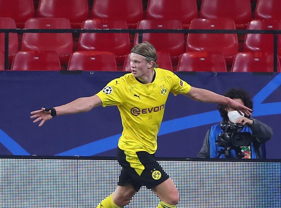 Erling Haaland was man of the match as Dortmund beat Sevilla