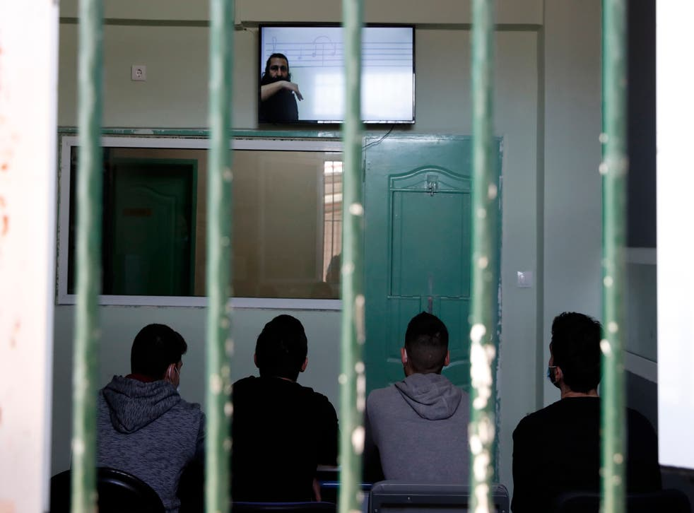 Virus Outbreak One Good Thing Greece Prison TV
