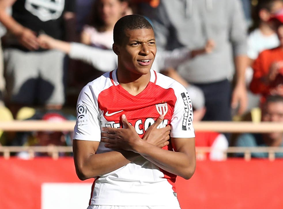 Kylian Mbappe during his time at Monaco