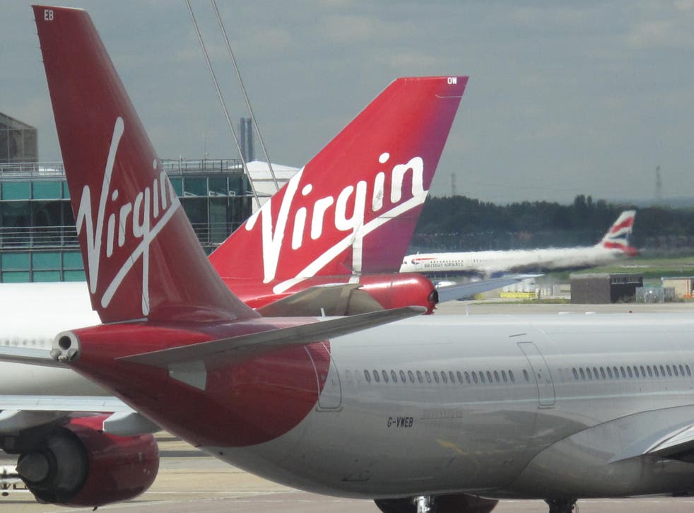 Better times: Virgin Atlantic and British Airways aircraft before the coronavirus pandemic