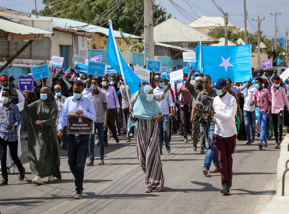 Somalia Election Protest