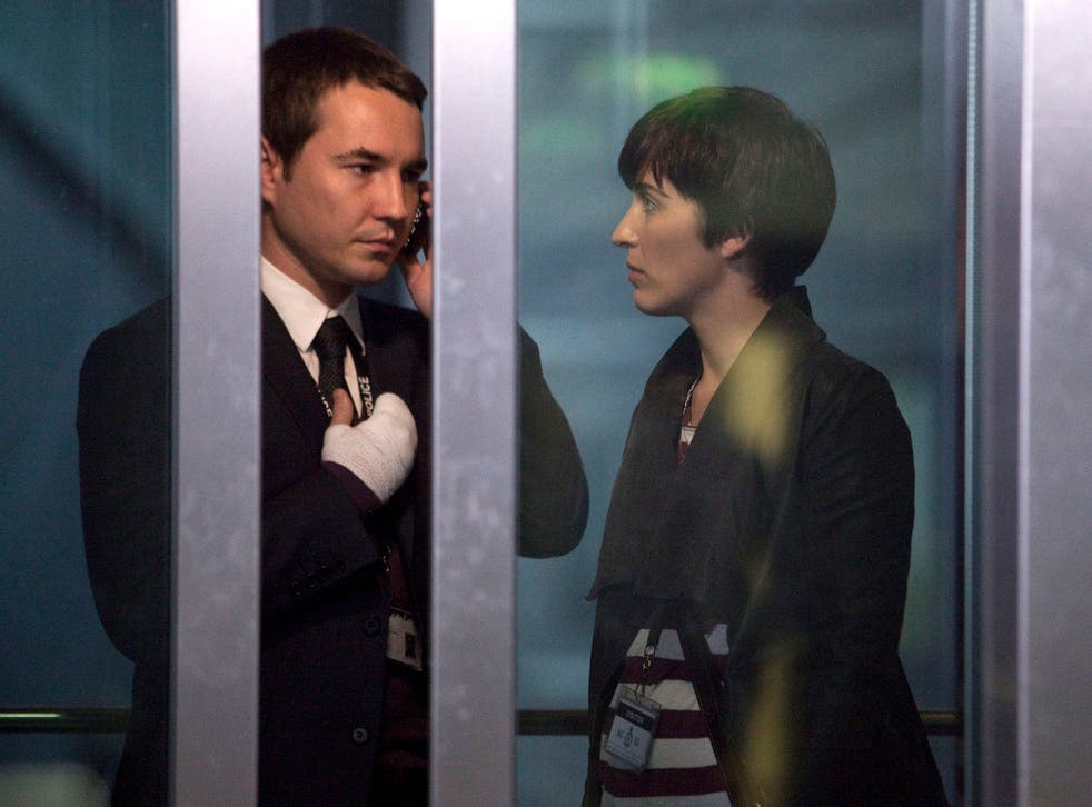 Compston and McClure as Steve Arnott and Kate Fleming in Line of Duty