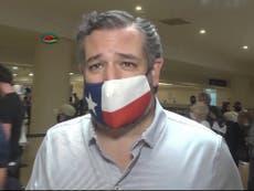 """Ted Cruz """"bajo fuego"""": critican al senador por su """"sesión de fotos"""" en Texas tras escándalo sobre viaje a Cancún"""