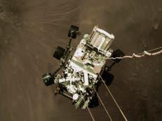 Perseverance: Nasa landing team 'awestruck' by stunning photo of rover landing on Mars