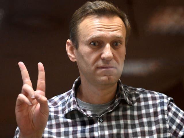 <p>Navalny se ha enfrentado a múltiples desafíos legales desde que fue arrestado en su regreso de enero a Rusi</p>