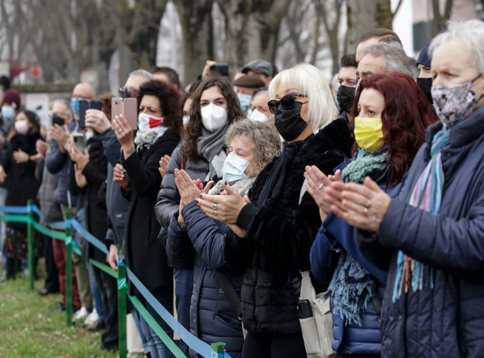 Virus Outbreak Italy Anniversary