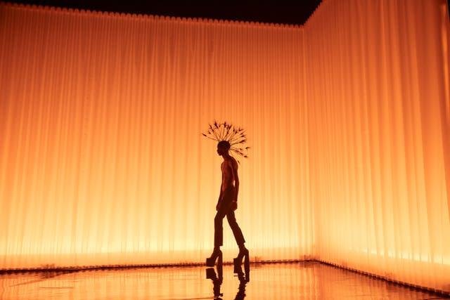 <p>A Harris Reed creation at the fashion showcase</p>