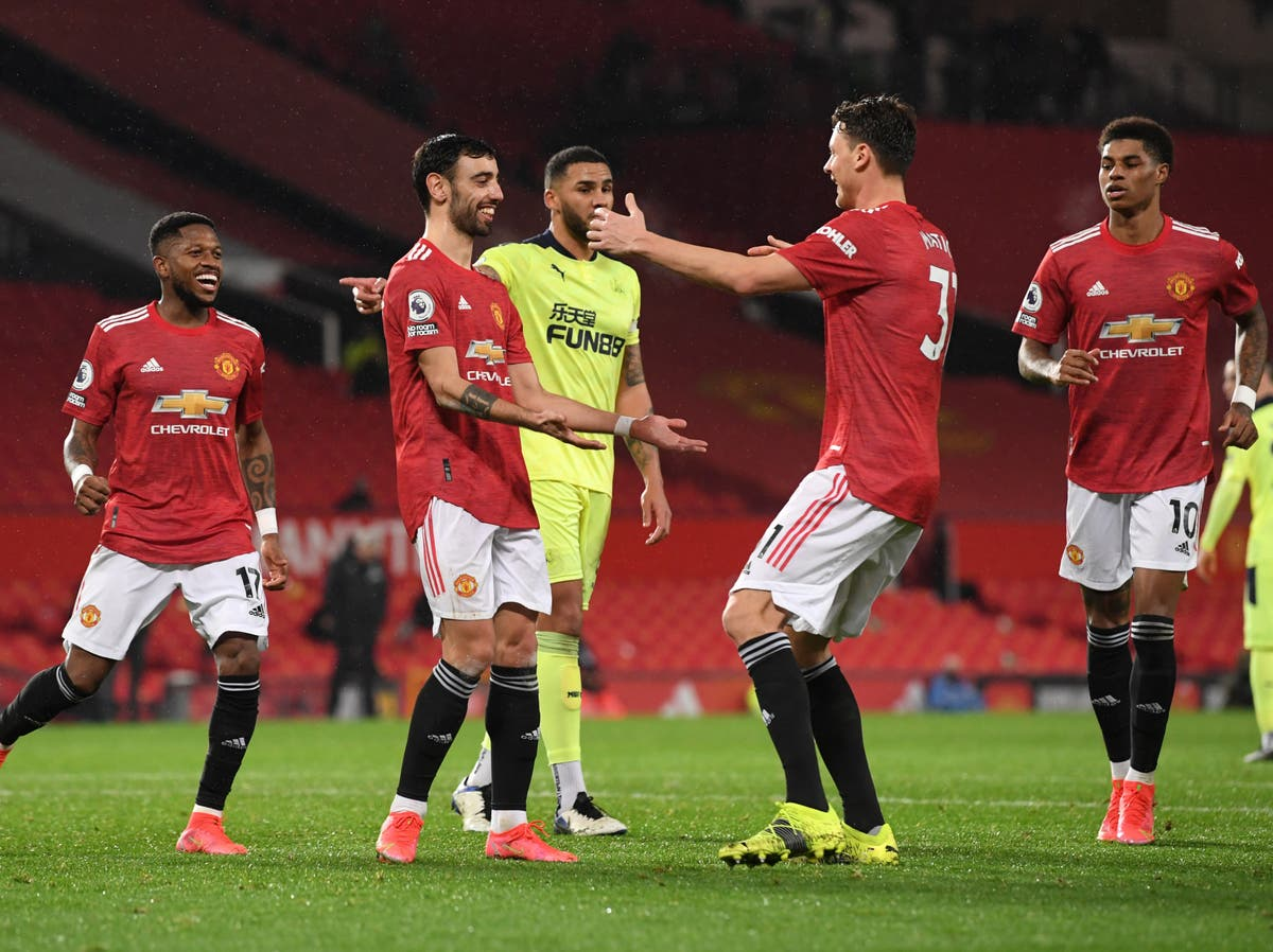 Manchester United reinforce top-four spot as Newcastle left looking over their shoulder - The Independent