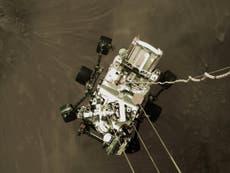 """La NASA revela un """"impresionante"""" video del aterrizaje del rover Perseverance en Marte"""