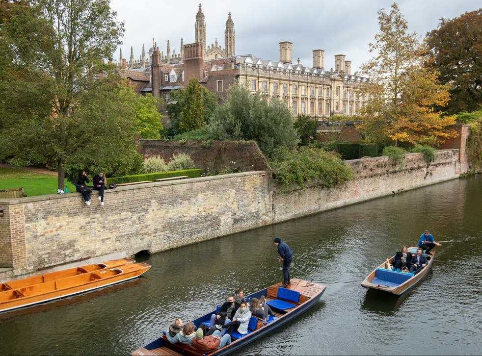 <p>Students at the University of Cambridge</p>