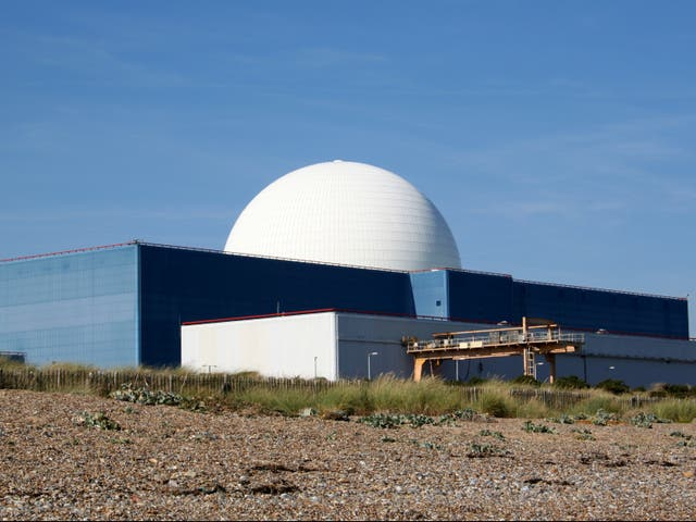 The existing nuclear power station at Sizewell in Suffolk