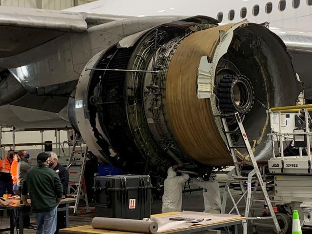 <p>Una investigación preliminar ha revelado que una aspa de ventilador dañada provocó el incendio del motor en vuelo de Denver que provocó la puesta a tierra de más de 100 Boeing 777  </p>