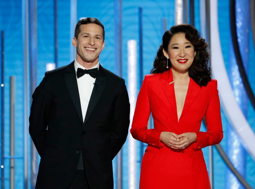 Andy Samberg and Sandra Oh host the Globes in 2019