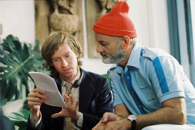 <p>Wes Anderson directs Bill Murray in 2004's 'The Life Aquatic with Steve Zissou'</p>