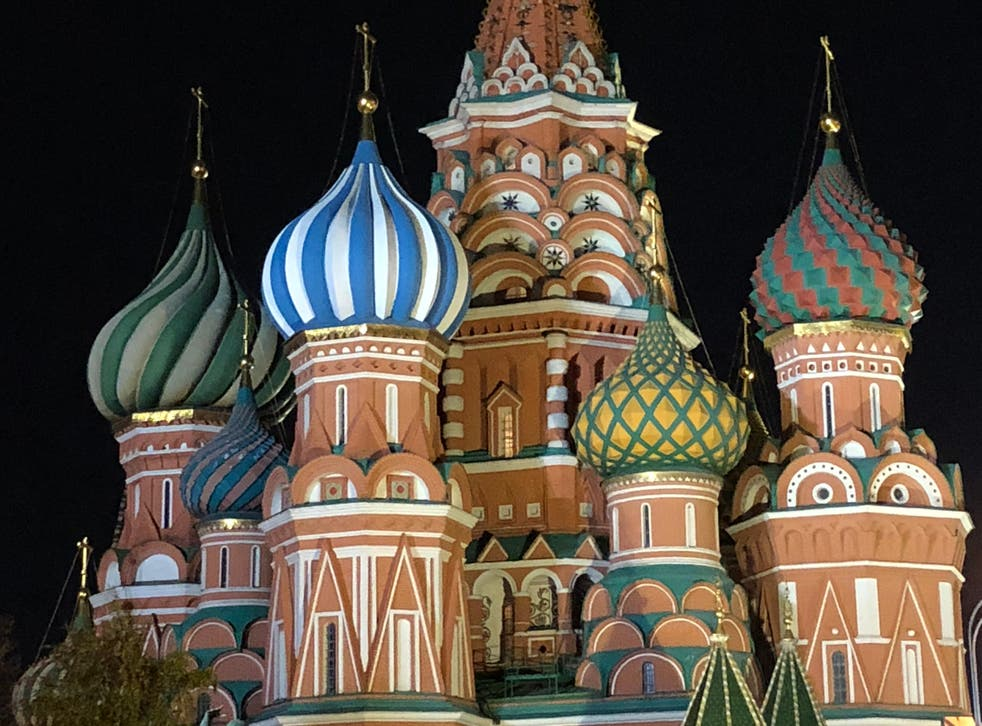 <p>Star turn: St Basil's Cathedral in central Moscow</p>