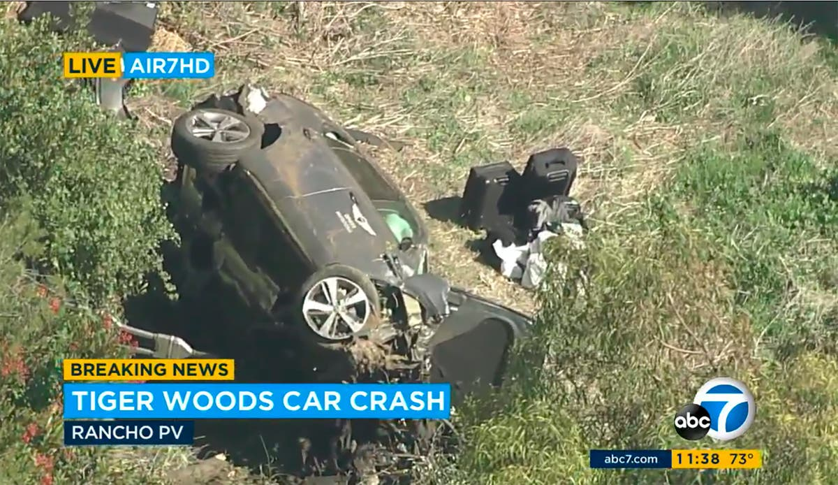 Tiger Woods 'fortunate' to survive after crashing luxury Genesis SUV, police say