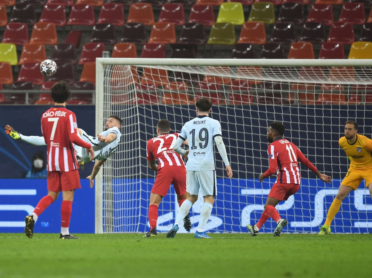 Chelsea vence a Atlético de Madrid con golazo de Giroud en los octavos de final de la Champions