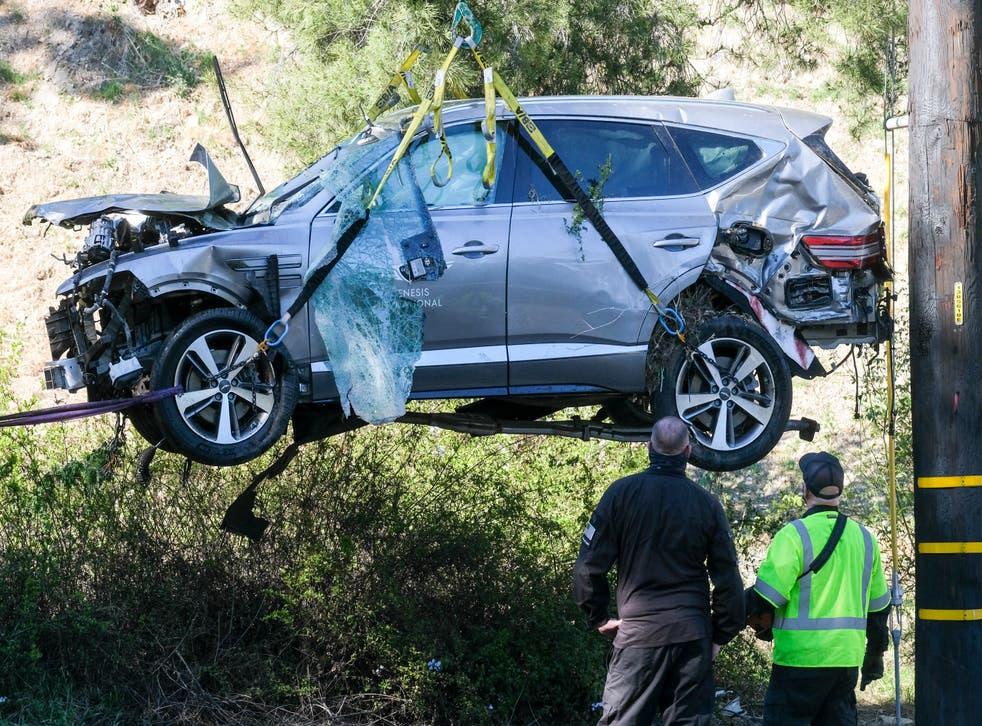 APTOPIX Tiger Woods Vehicle Crash Golf