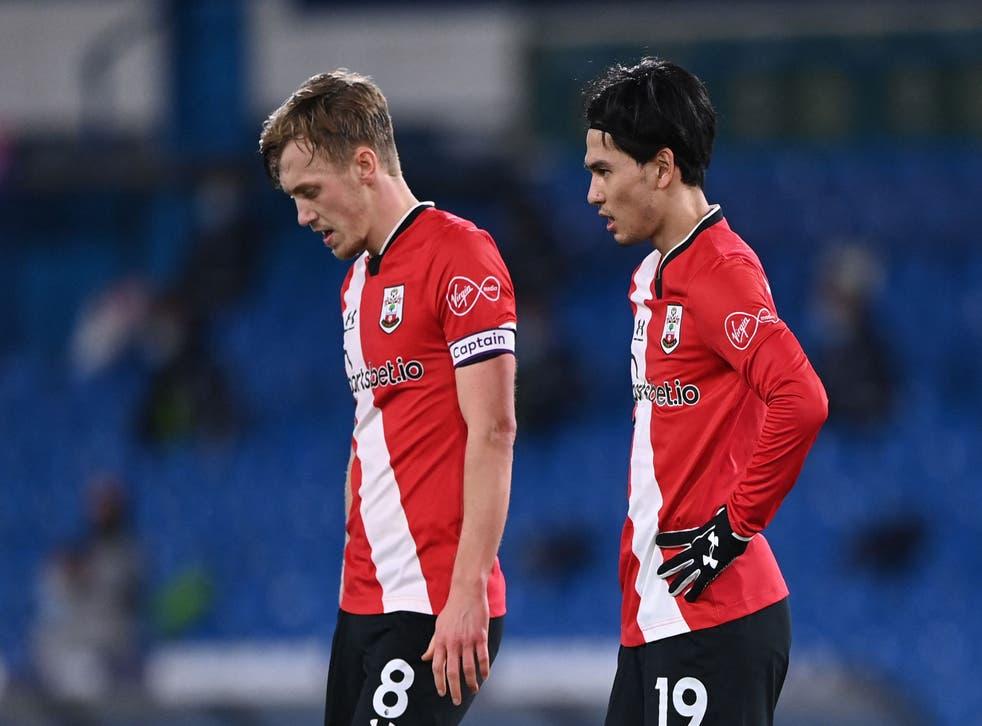 Southampton players struggled against leeds