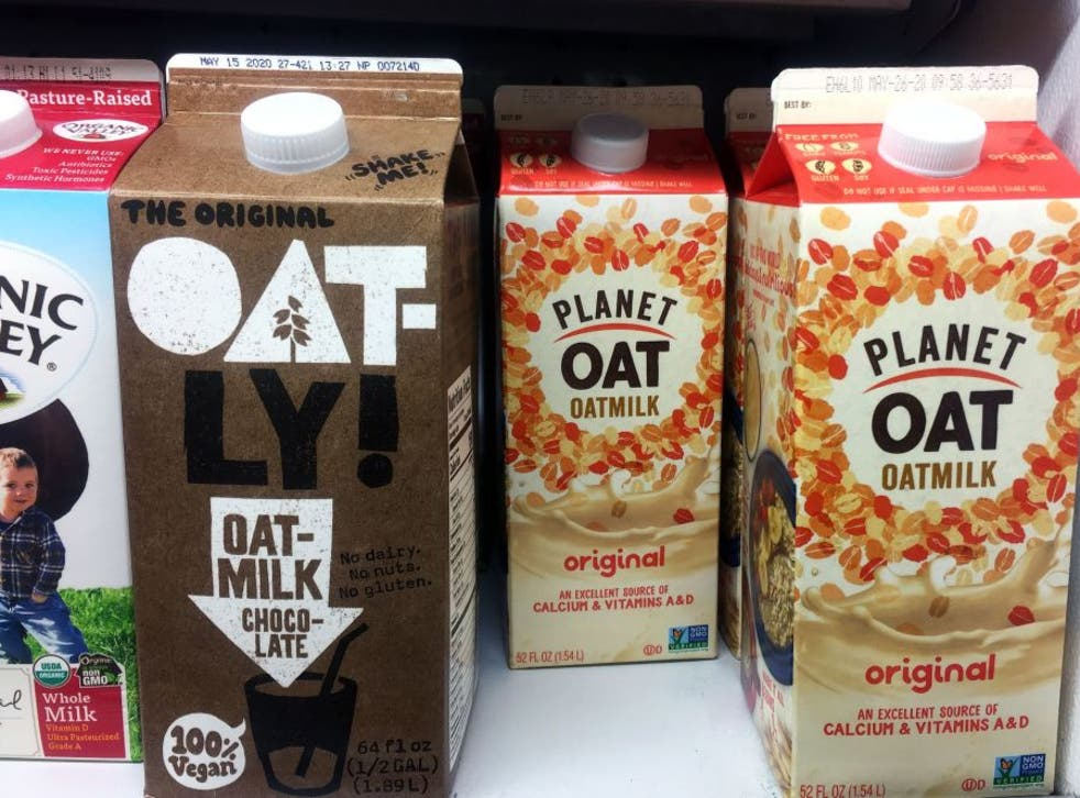 Oat milk cartons for sale in the US