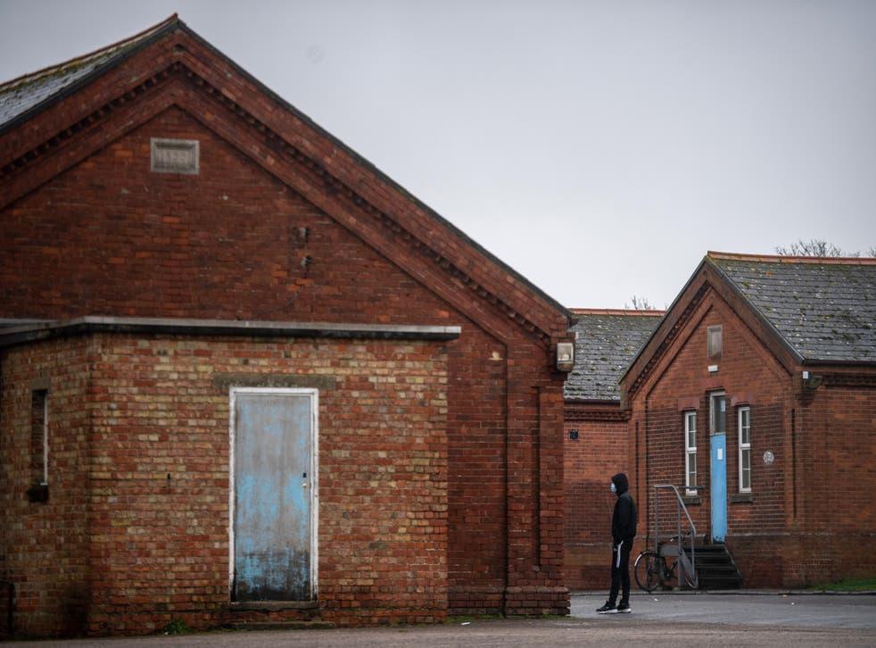 <p>Around 400 asylum seekers were placed at Napier Barracks last September</p>