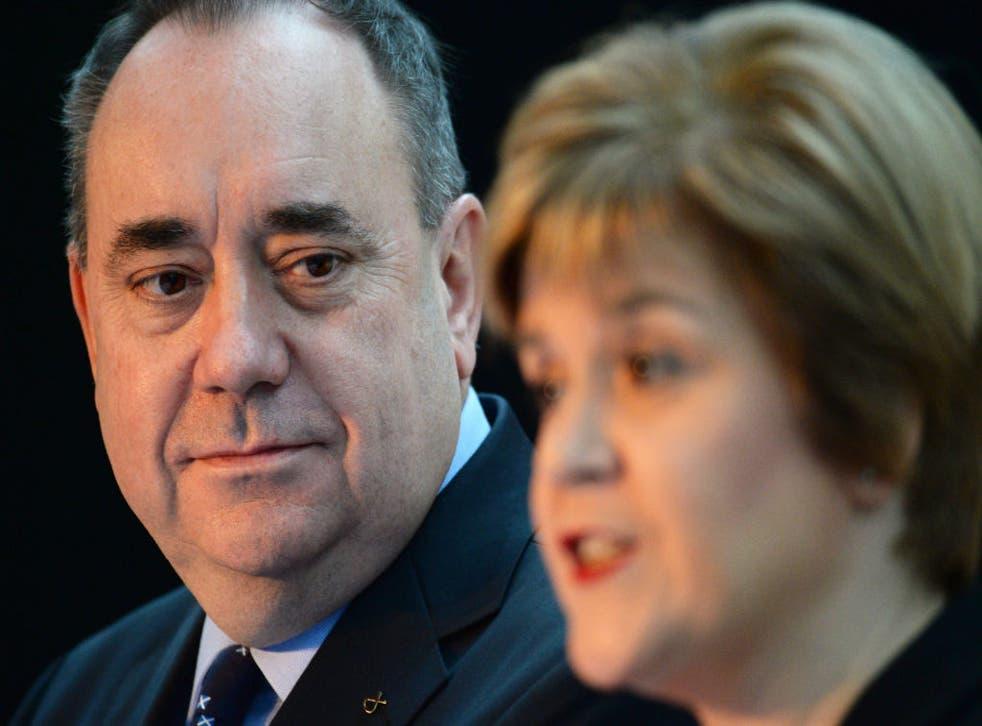 Alex Salmond and Nicola Sturgeon in 2013.