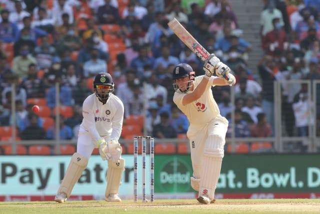 Zak Crawley of England  plays a shot during day one of the third test