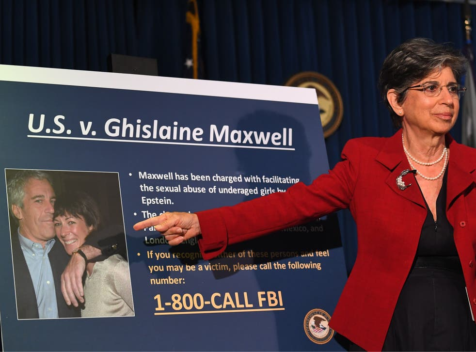 Acting US Attorney for the Southern District of New York Audrey Strauss announces charges against Ghislaine Maxwell during a press conference in New York City on 2 July 2020