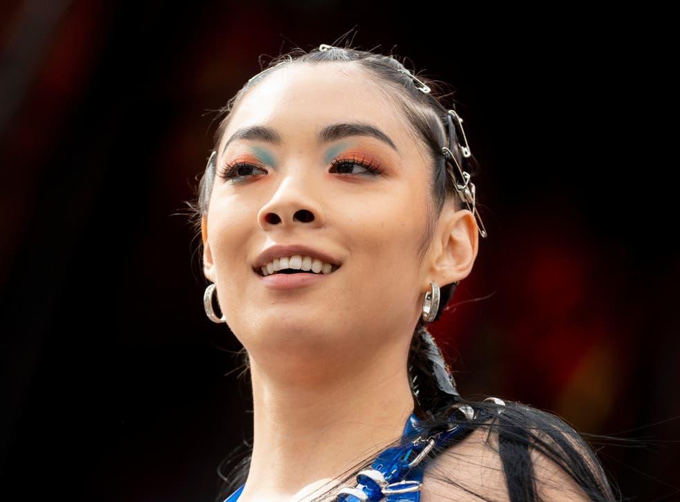 Sawayama on stage in 2019