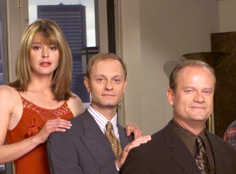 Jane Leeves, David Hyde Pierce and Kelsey Grammer in Frasier