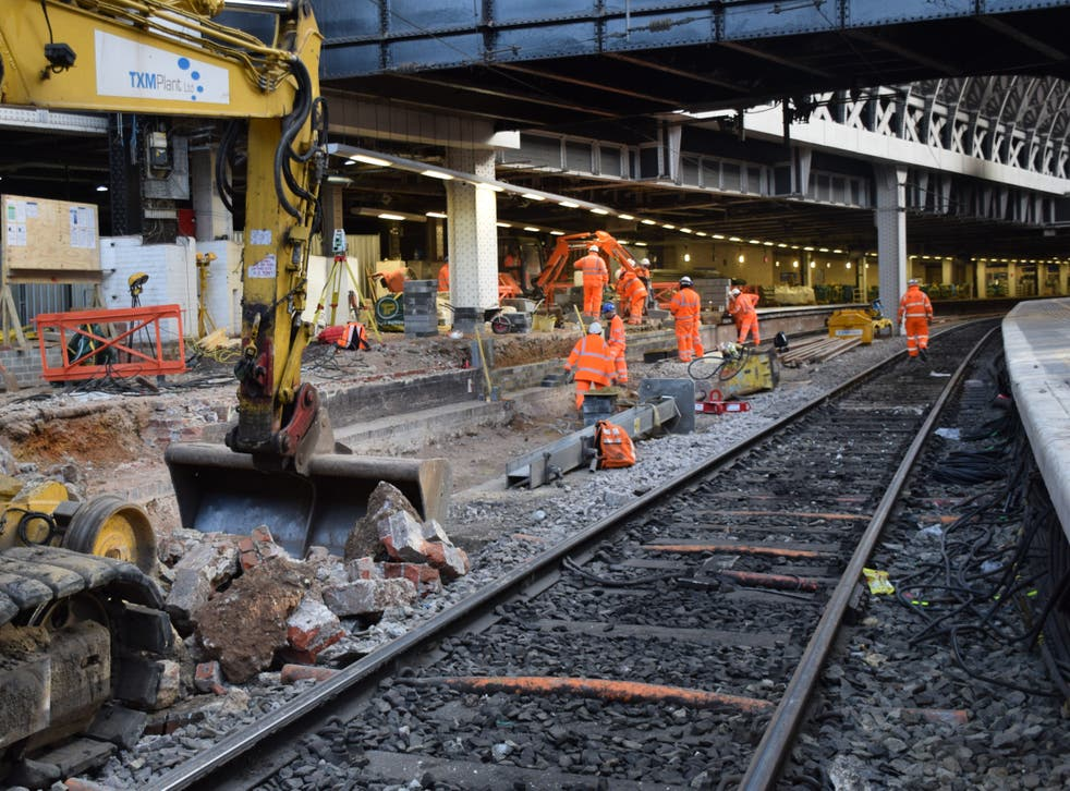 Works outing: Network Rail engineering work at Paddington station in London