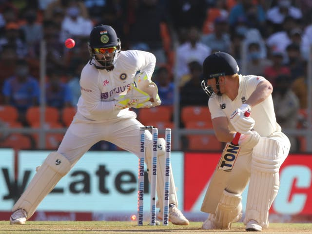 Jonny Bairstow of England is bowled by Axar Patel of India