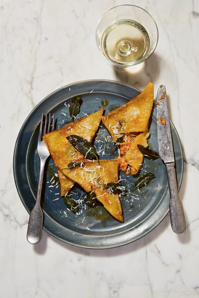 sweet potato ravioli
