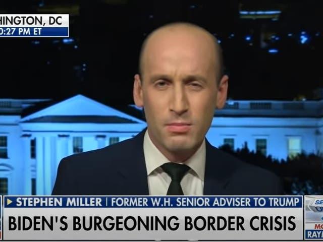 <p>Stephen Miller en Fox News</p>