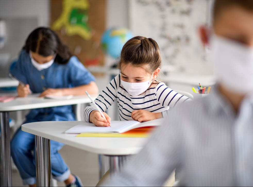 At least two primary schools have requested pupils where face masks when they return on 8 March
