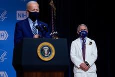 """50 millones de vacunas anti COVID-19 en 37 días; """"estamos a la mitad del camino"""": Biden"""