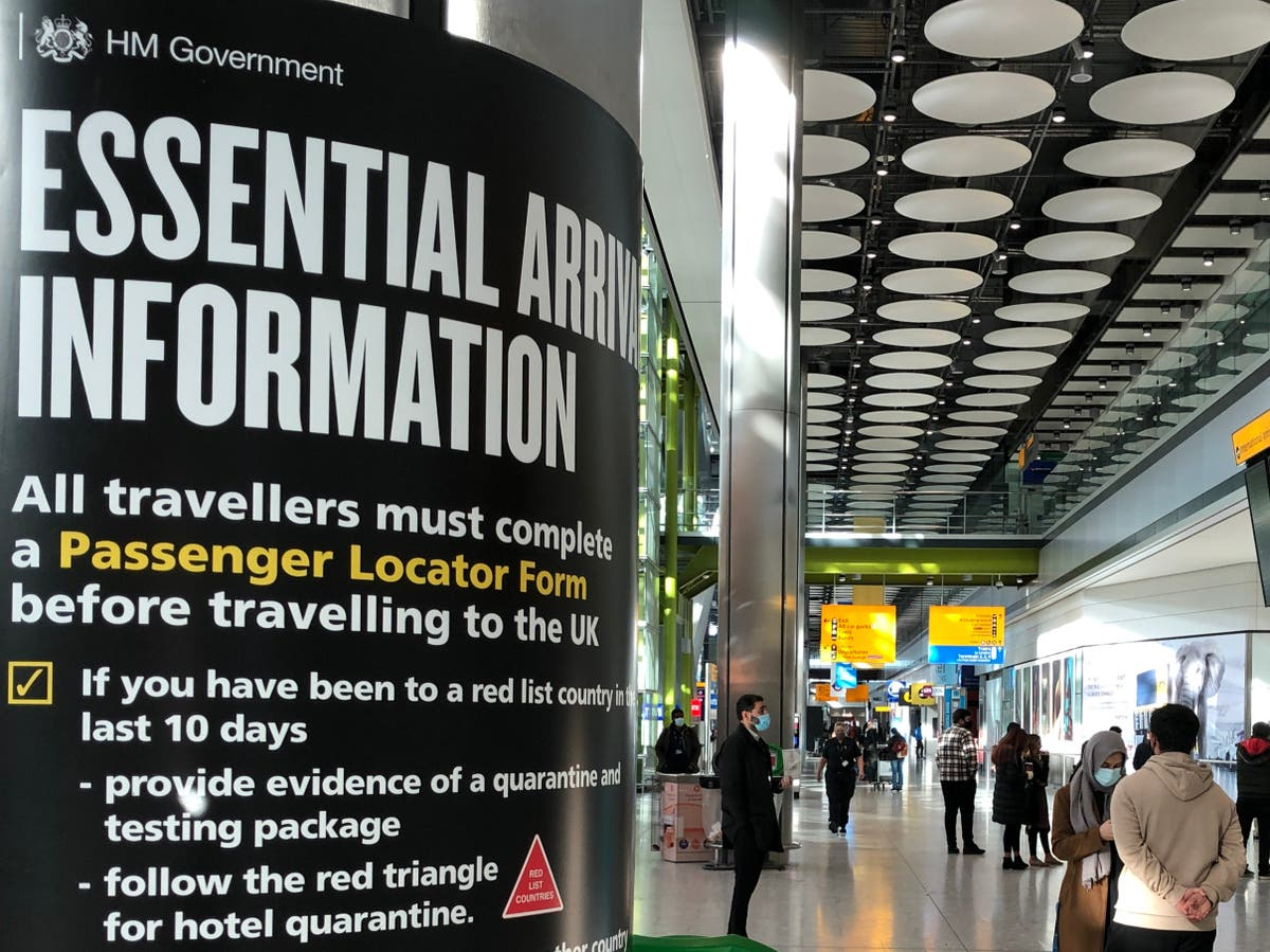 First travellers leave hotel quarantine at Heathrow airport
