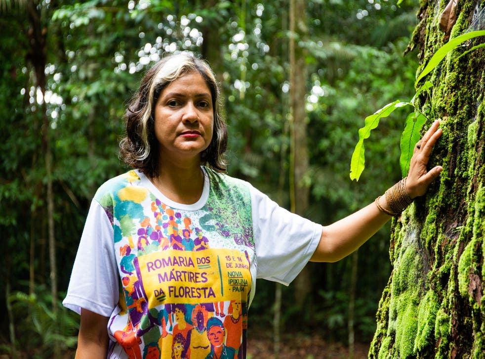 <p>Claudelice's brother and sister-in-law were killed for their 'crime' of trying to protect the Brazilian Amazon</p>