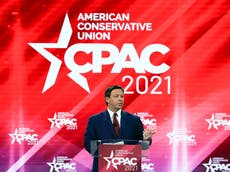 Ron DeSantis and Mike Lee open CPAC with speeches targeting lockdown 'tyranny' as death toll tops 30,000 in host state