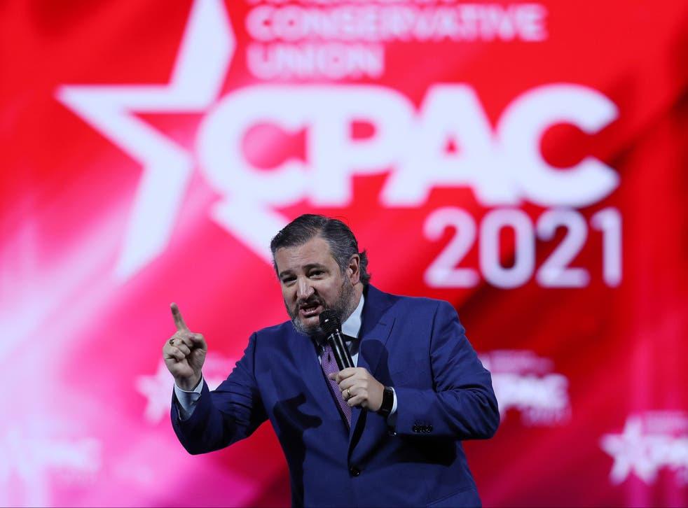 <p>Ted Cruz at CPAC</p>