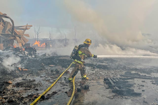 Compton Industrial Fire