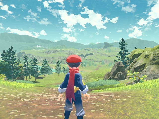 A still from Pokemon Legends Arceus, out early 2022 on the Nintendo Switch