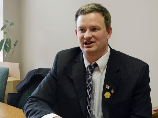 <p>Jason Ravnsborg speaks in Sioux Falls, SD Ravnsborg, South Dakota's Republican attorney general, has been charged with misdemeanour careless driving after he struck and killed a man with his car, authorities said Thursday 18 February 2021</p>