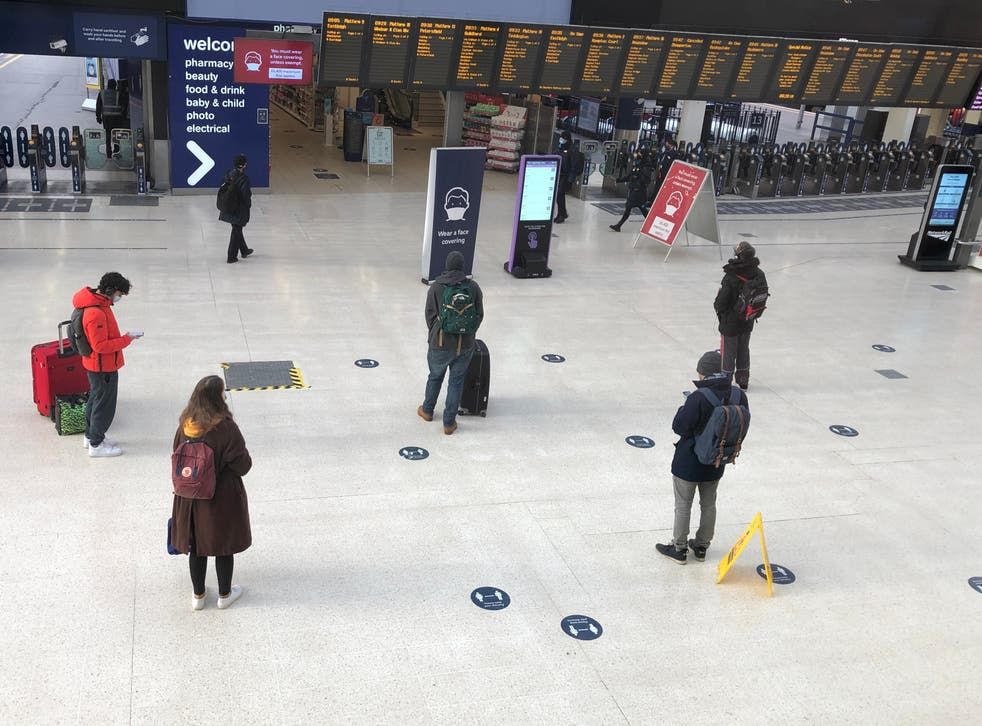 <p>Rush hour?: Waterloo station in central London, which until 2020 was the busiest transport terminal in Europe</p>