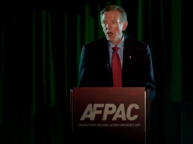 <p>Republican congressman Paul Gosar appearing at AFPAC on Friday</p>