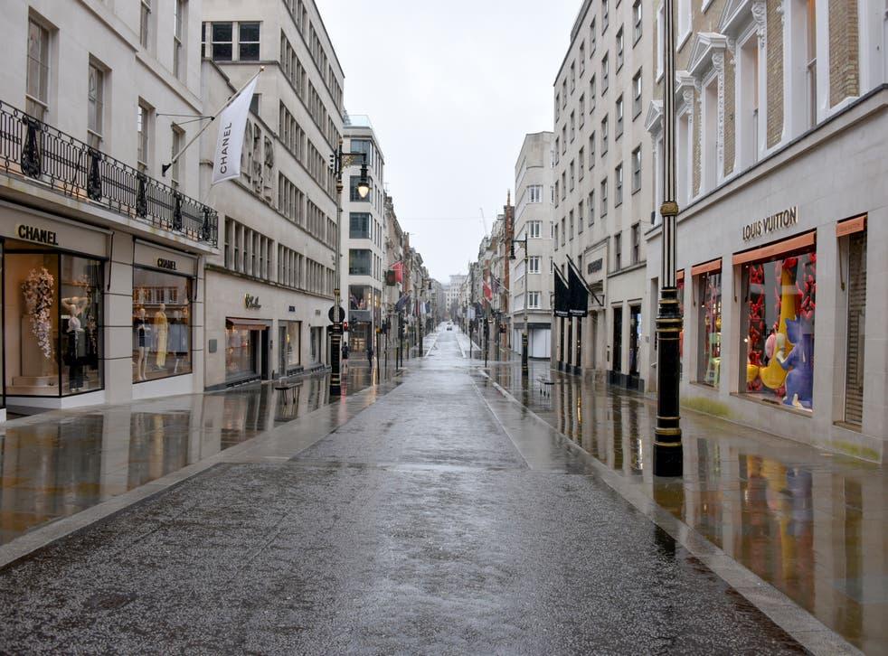 A deserted street in Mayfair