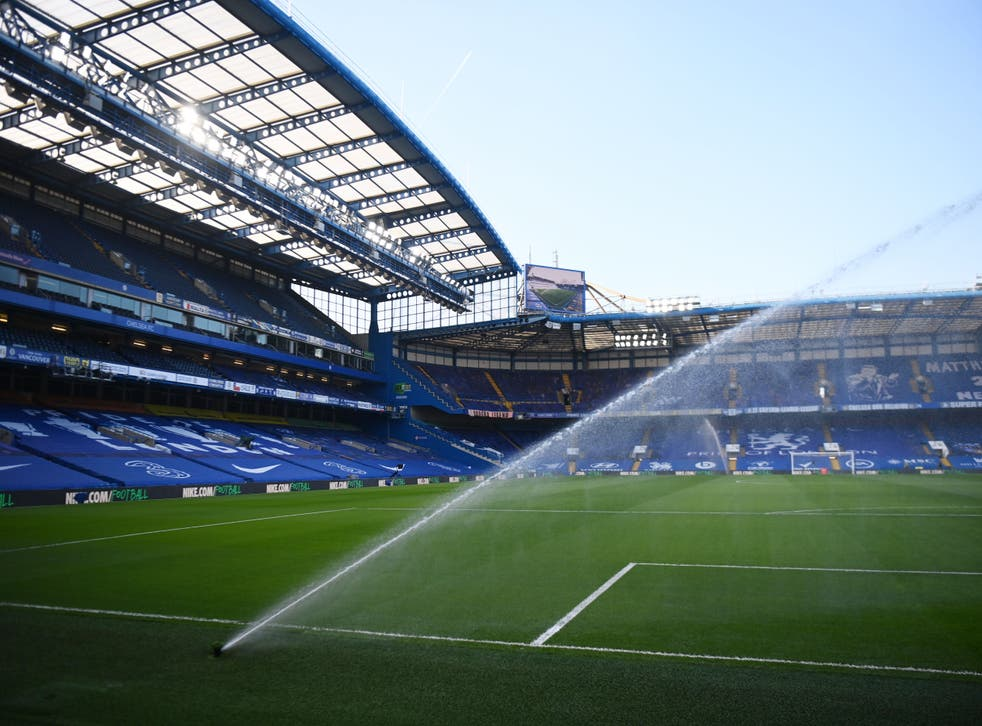 Stamford Bridge gears up for the arrival of Manchester United