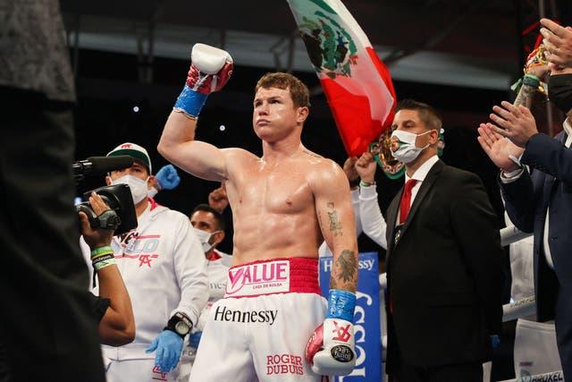 Canelo Alvarez after beating Avni Yildirim